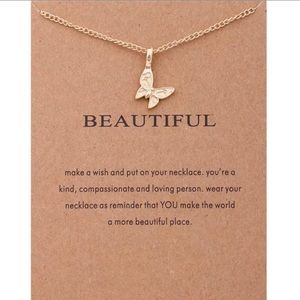 Beautiful Butterfly Charm Necklace
